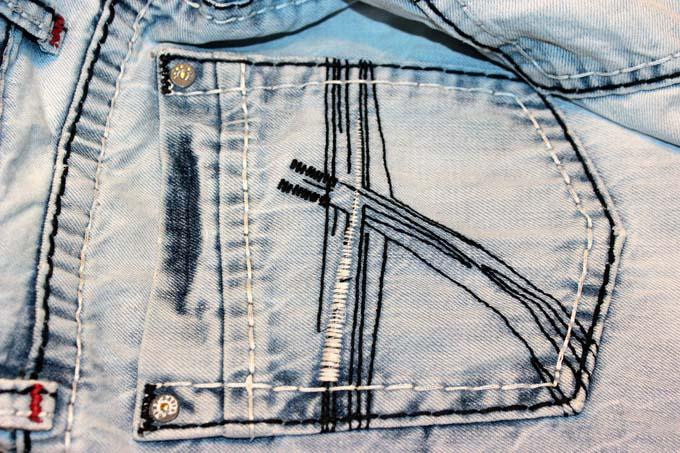 Jeanshose Jeanstasche Usedlook