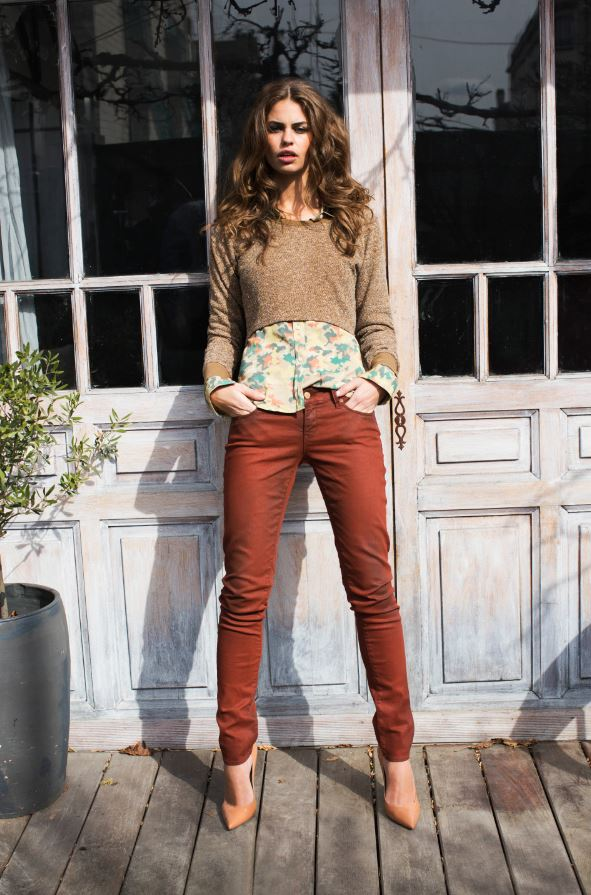 Damenjeans metallic trend