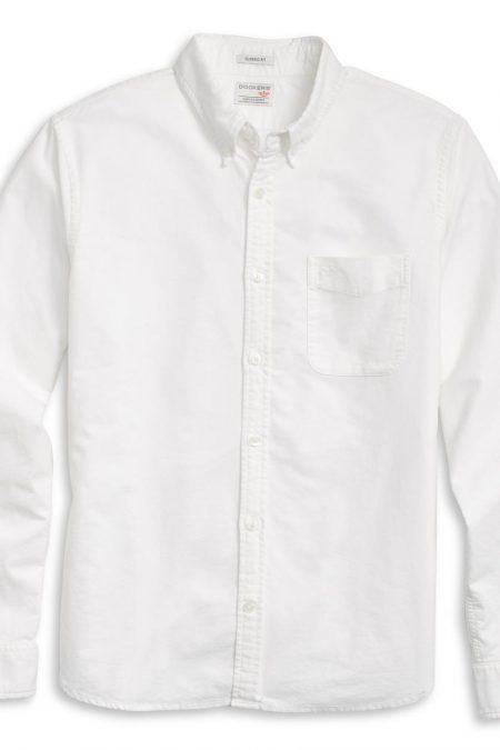 Dockers LS Oxford Shirt - Hemd - Paper White