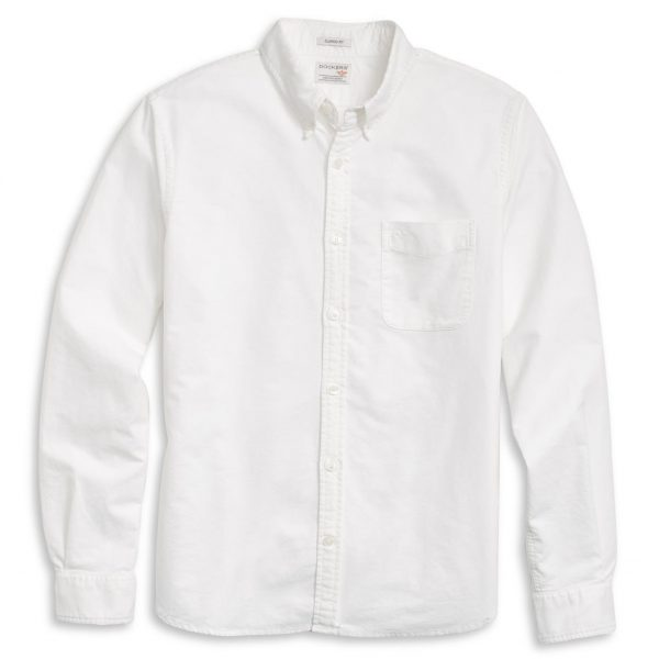 Dockers LS Oxford Shirt – Hemd – Paper White