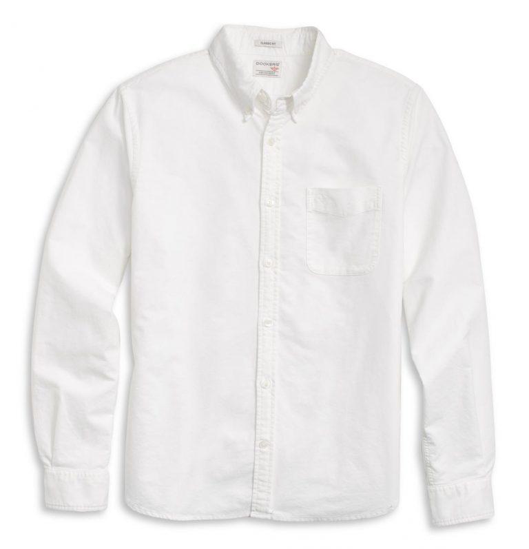 Dockers LS Oxford Shirt - Hemd - Paper White