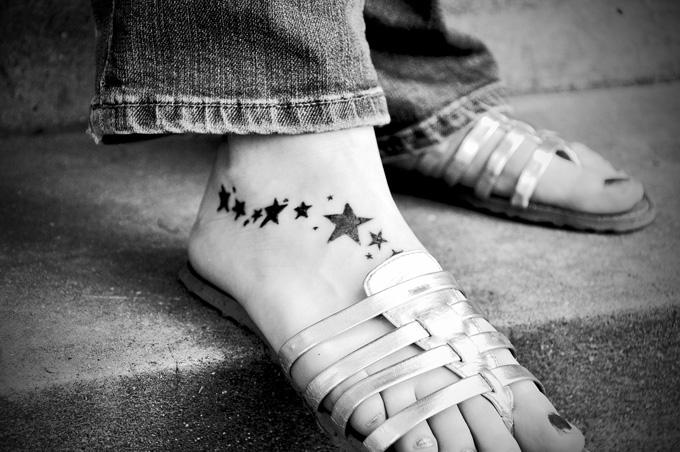 Füße Sandalen Tattoo
