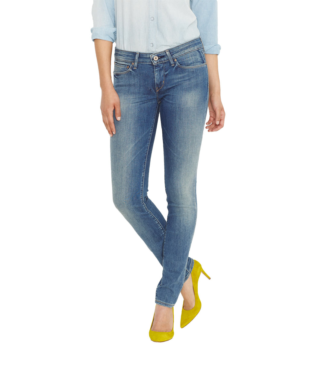 Levis Demi Curve - Skinny Jeans - Sandwashed Shell