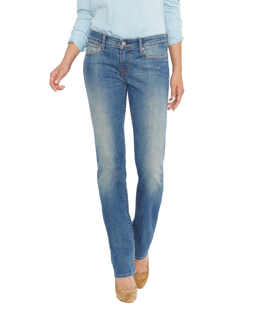 Levis Demi Curve - Straight Jeans - Sandwashed Shell