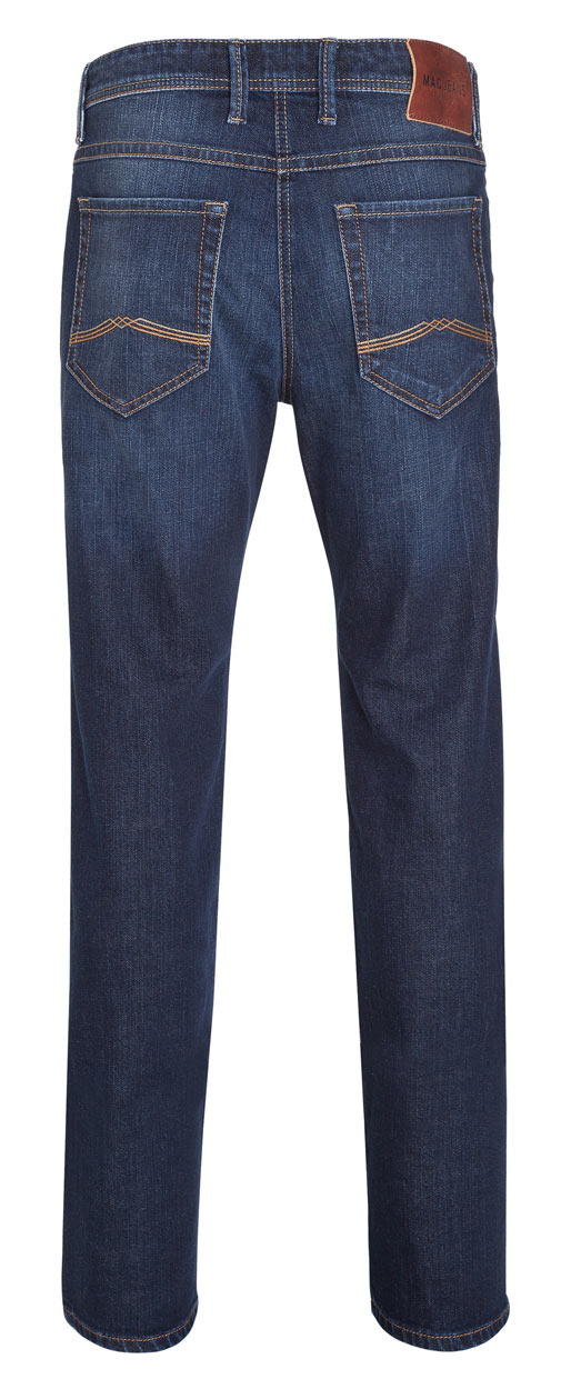 MAC BEN Jeans – Straight Leg – Dark Blue Authentic Stone Used