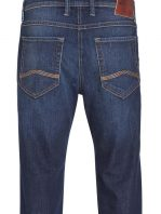 MAC BEN Jeans - Straight Leg - Dark Blue Authentic Stone Used