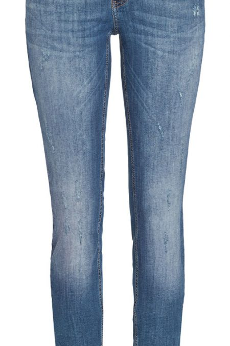 MAC DREAM SKINNY - AUTHENTIC Jeans - Dark Used Grinding