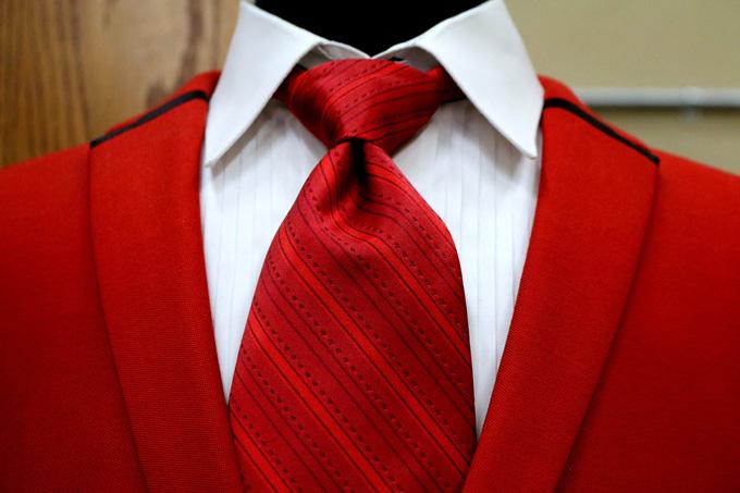 Anzug Krawatte Rot