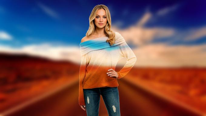 Pullover Landschaft Frau